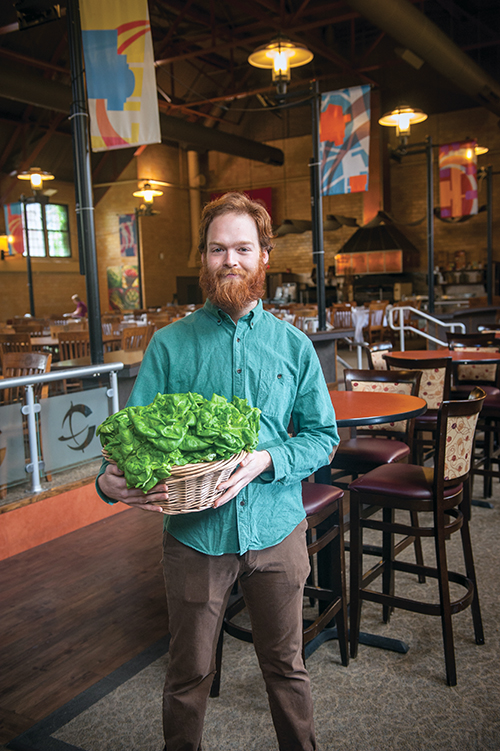 Nick Pagen, Sodexo Student Farmer at Clark University