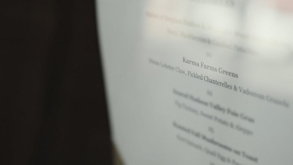 Karma Farm produce on Magdalena menu