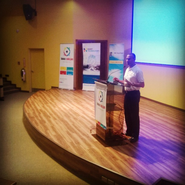CEO of @teleiossystems  Ronald Hinds giving closing remarks at @teleioscodejam #TCJ2014