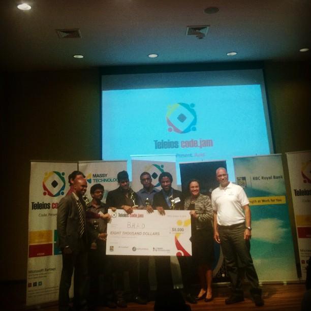 #TeamBHAD #TCJ2014 @teleioscodejam  winners
