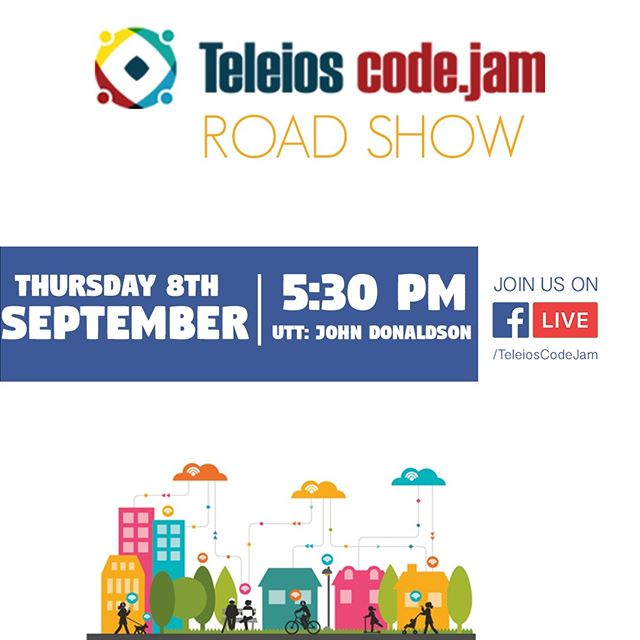 #TCJ2016 #teleioscodejam #UTT #JohnD #roadshow #technology #iot #smartcity #smartcountry #technologyLovers