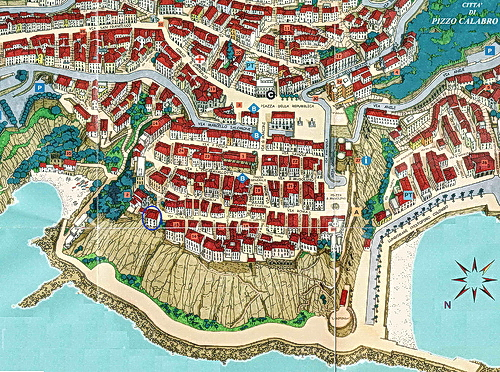 Old Map of Pizzo (VV)
