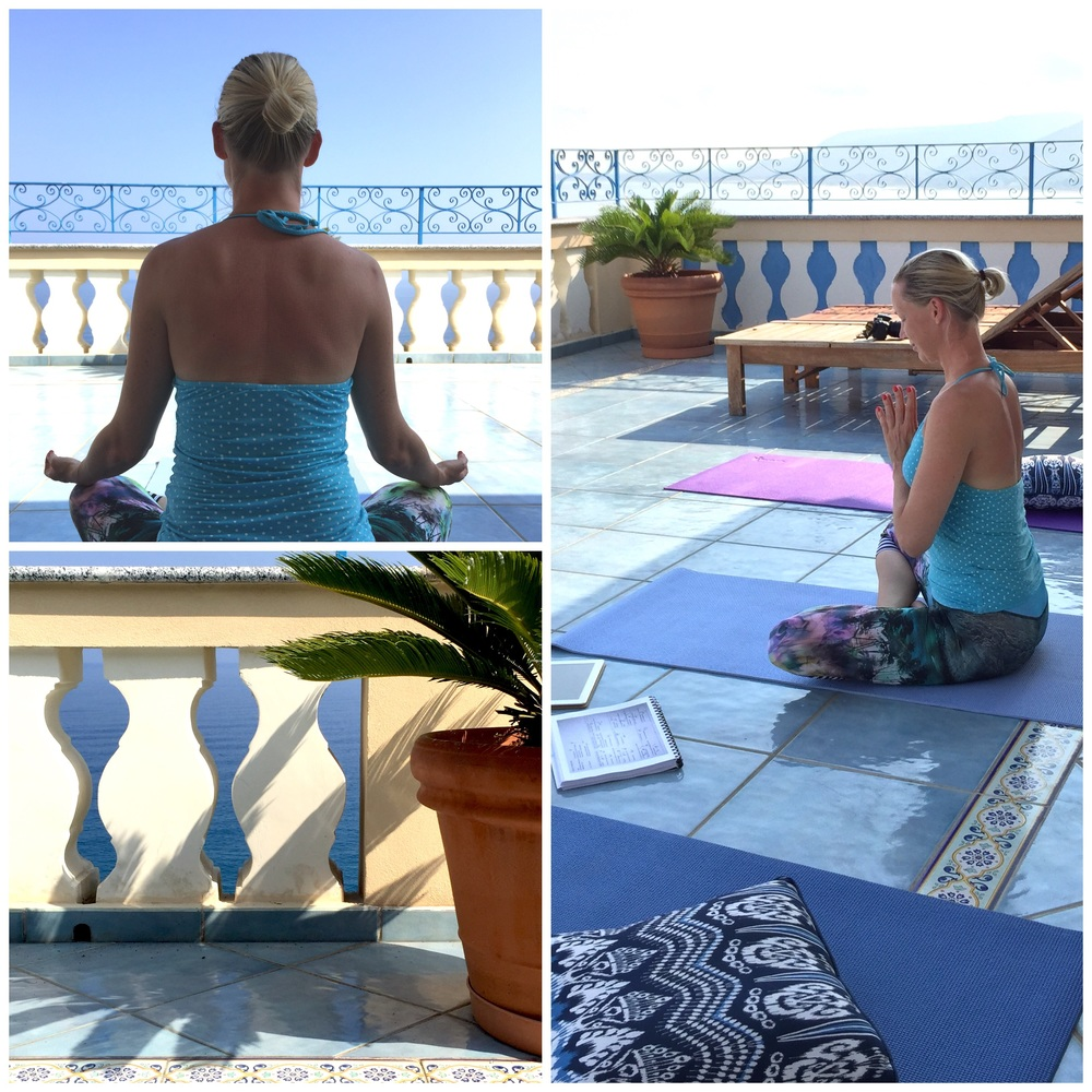 Flow yoga on the roof terrace