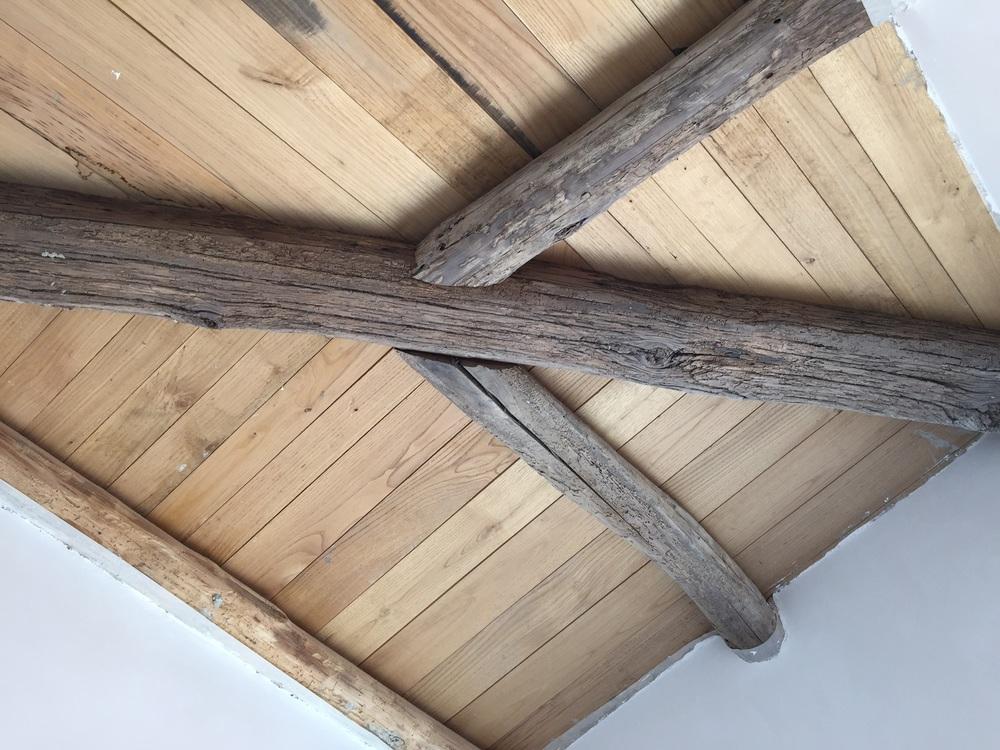 Dependance: restored wooden ceiling