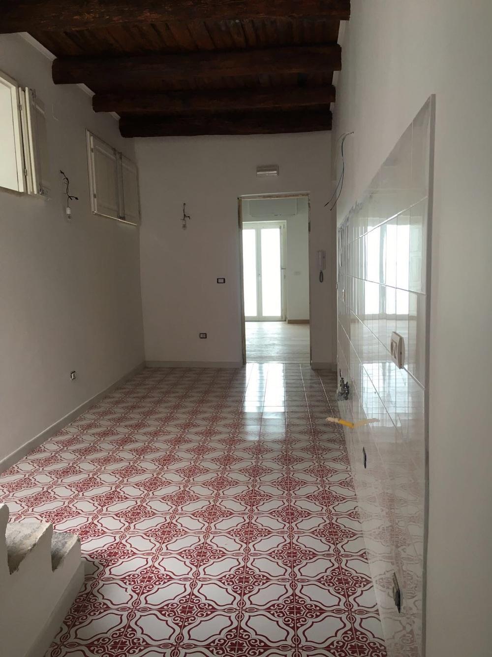 Studio: entrance and kitchen area