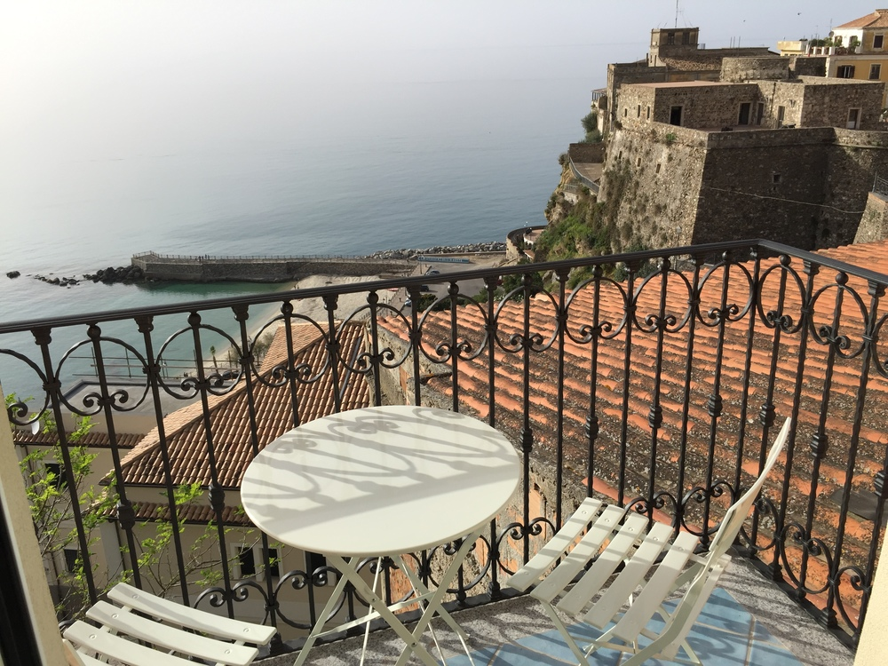 Balcony and castello view