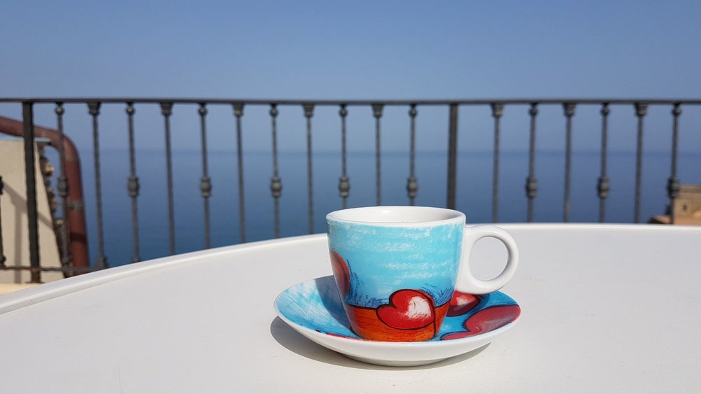Coffe on the roof top terrace, Dependance delle Grazie (photo credit: lovely guest Steve B., April 2018)