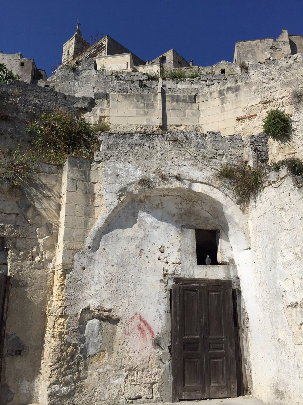 Matera: a pigeon's home, soon to become a luxury cave for crazy tourists