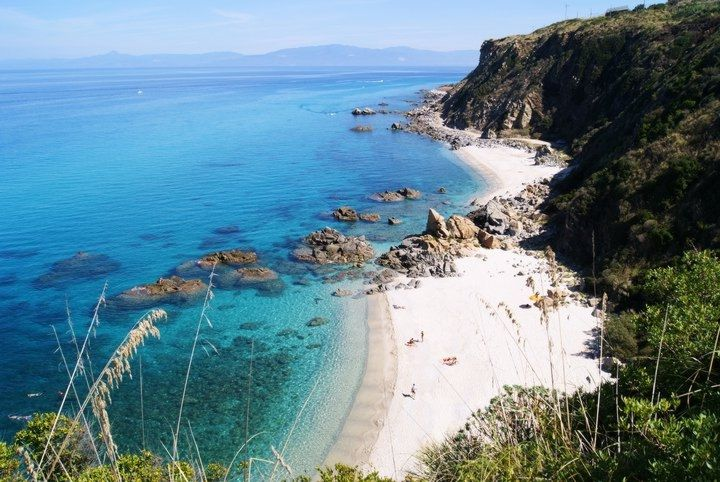 Enjoy empty beaches in and around Pizzo on the Costa degli dei
