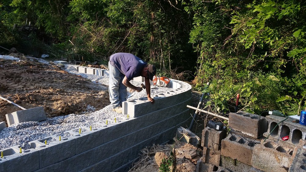 Reinforced Retaining Wall Drainage