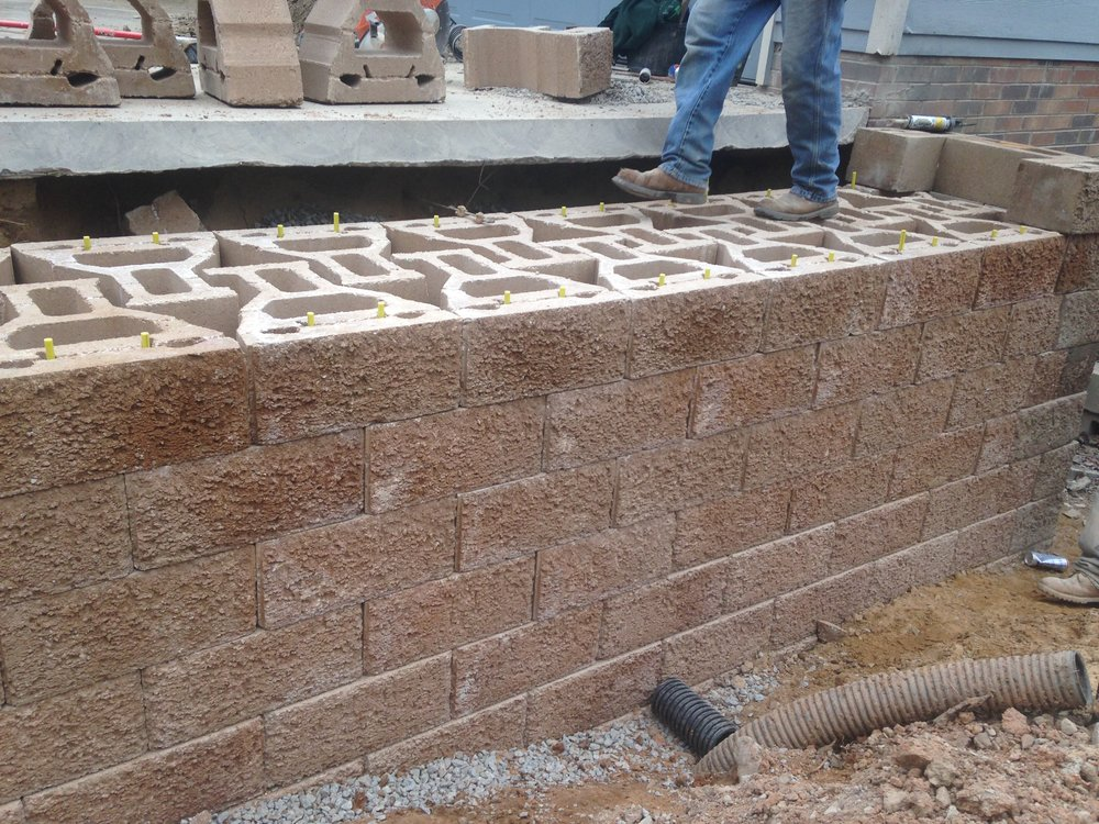 Keystone Gravity Wall Before Caps