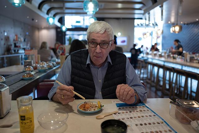 My octogenarian Dad's birthday lunch. His chose @yosushi - flavours!