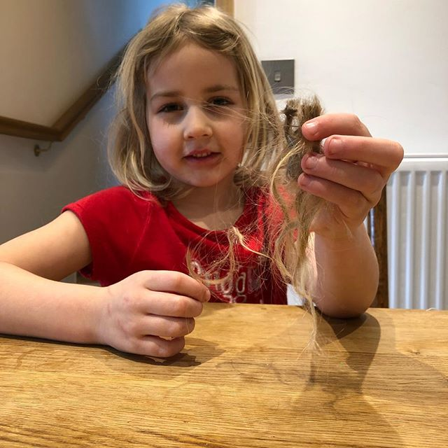 Slime and hair don't mix. #gluedhair #halftermdisasterswithdads #mywatch