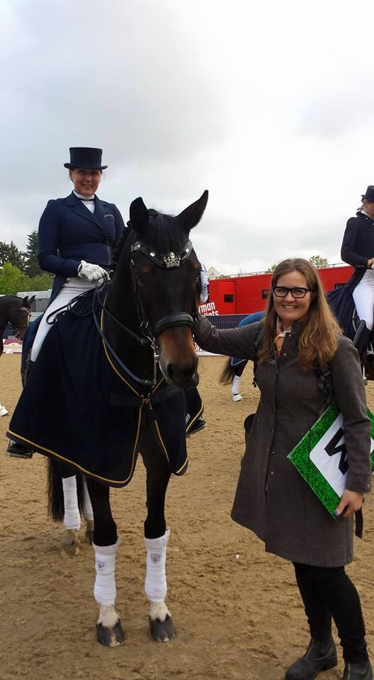 Here I am with the Winner of the Kur- Inessa Merkulova and her wonderful horse Mister X.