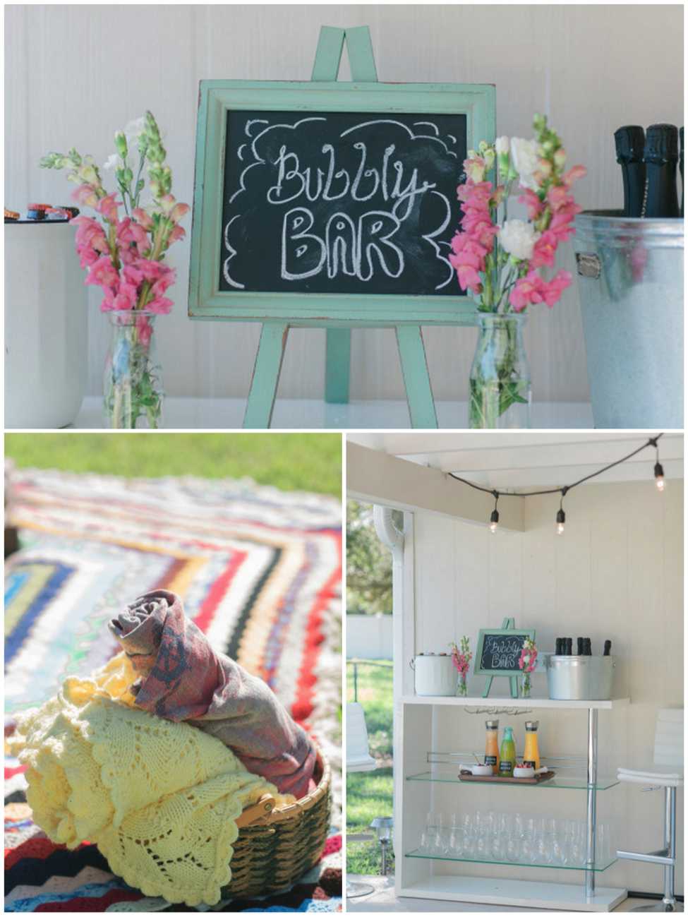 Click the link below to see more of this backyard picnic celebration on Style Me Pretty: http://www.stylemepretty.com/living/2015/04/21/a-southern-backyard-brunch