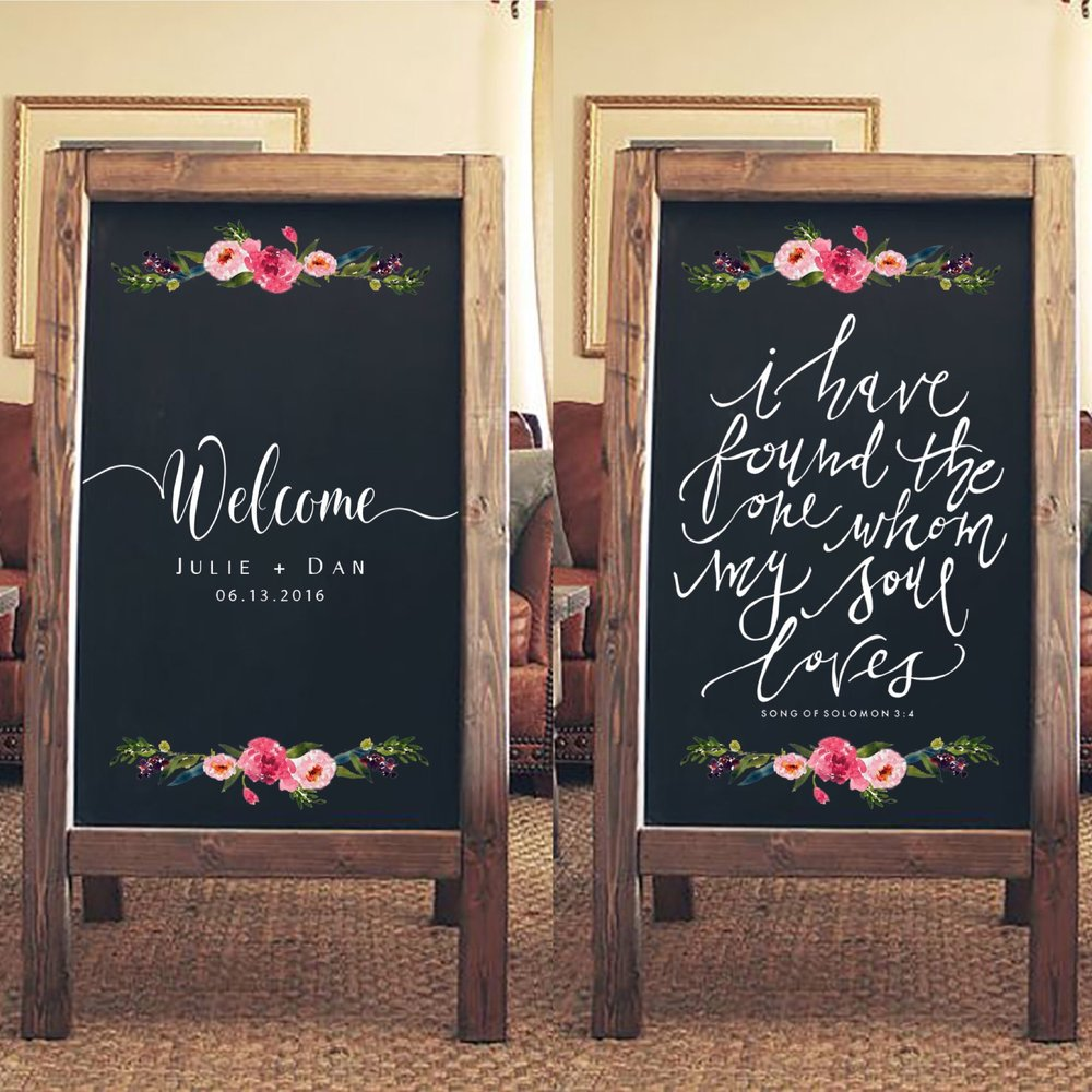 Wood Frame Chalkboard Sandwich Boards $15