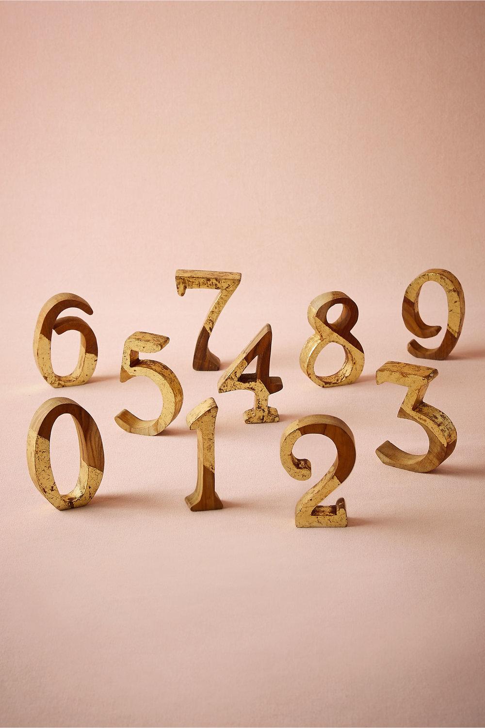 1-15 Teak/Gold Numbers $8