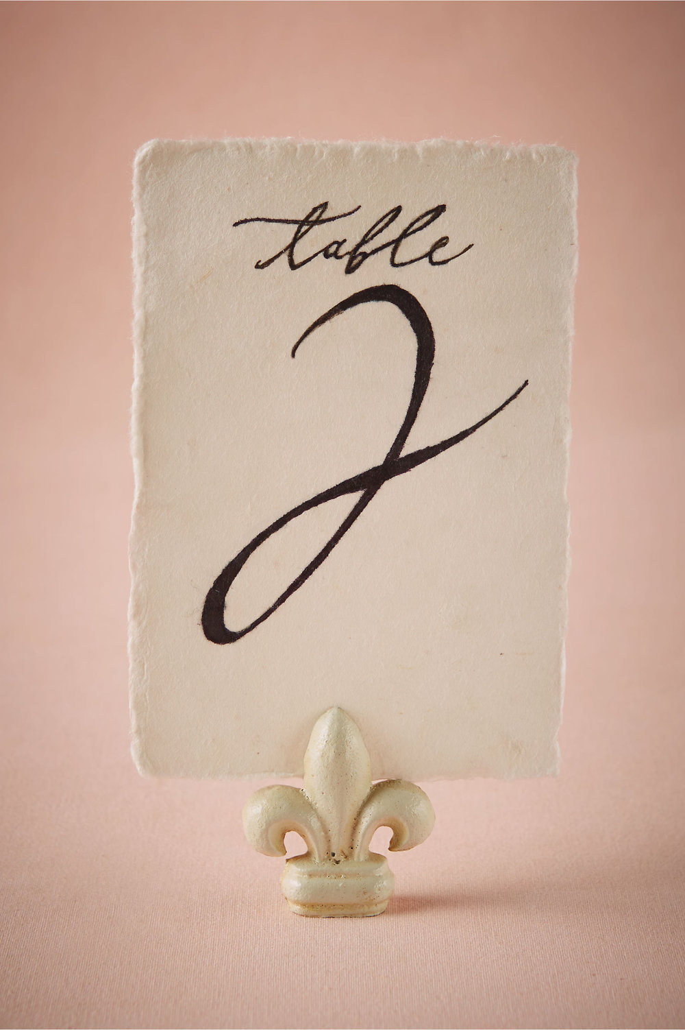 Fluer De Lis Table Number $3