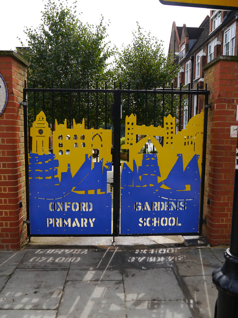 School gate art