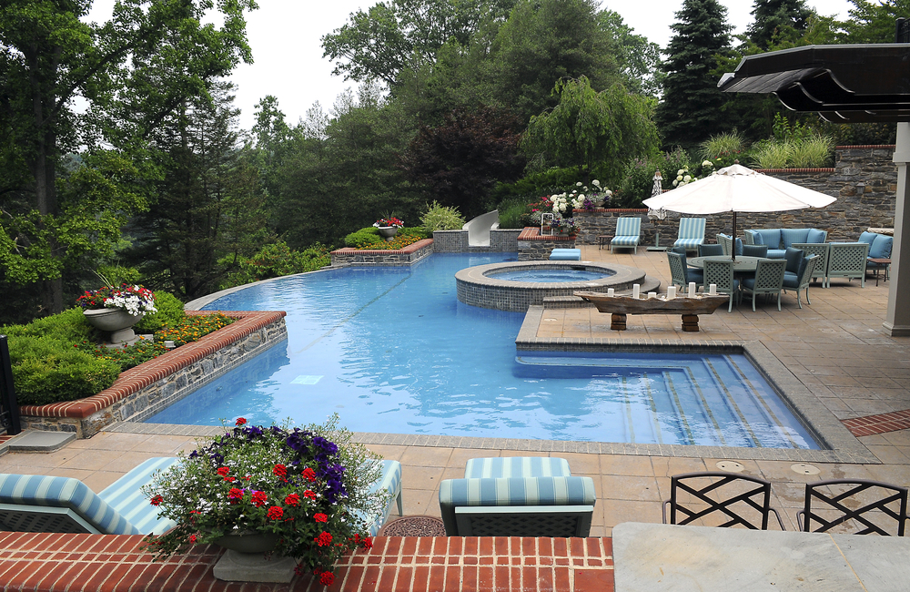 Swimming pool builders renovations contractors in bucks montgomery county pa carlton - Commercial swimming pool design ...