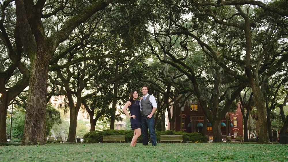 Savannah Engagement Photographer - Pulaski Square