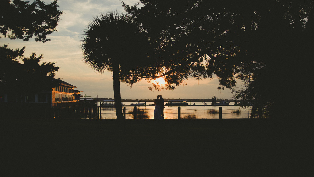 Jekyll Island Photography - Bride and Groom sunset
