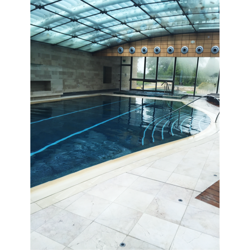 Lucknam Park. Get lost in the Hydra-therapy pool, lap pool, outdoor heated pool, Japanese Salt Steam Room, Sauna and normal steam room...