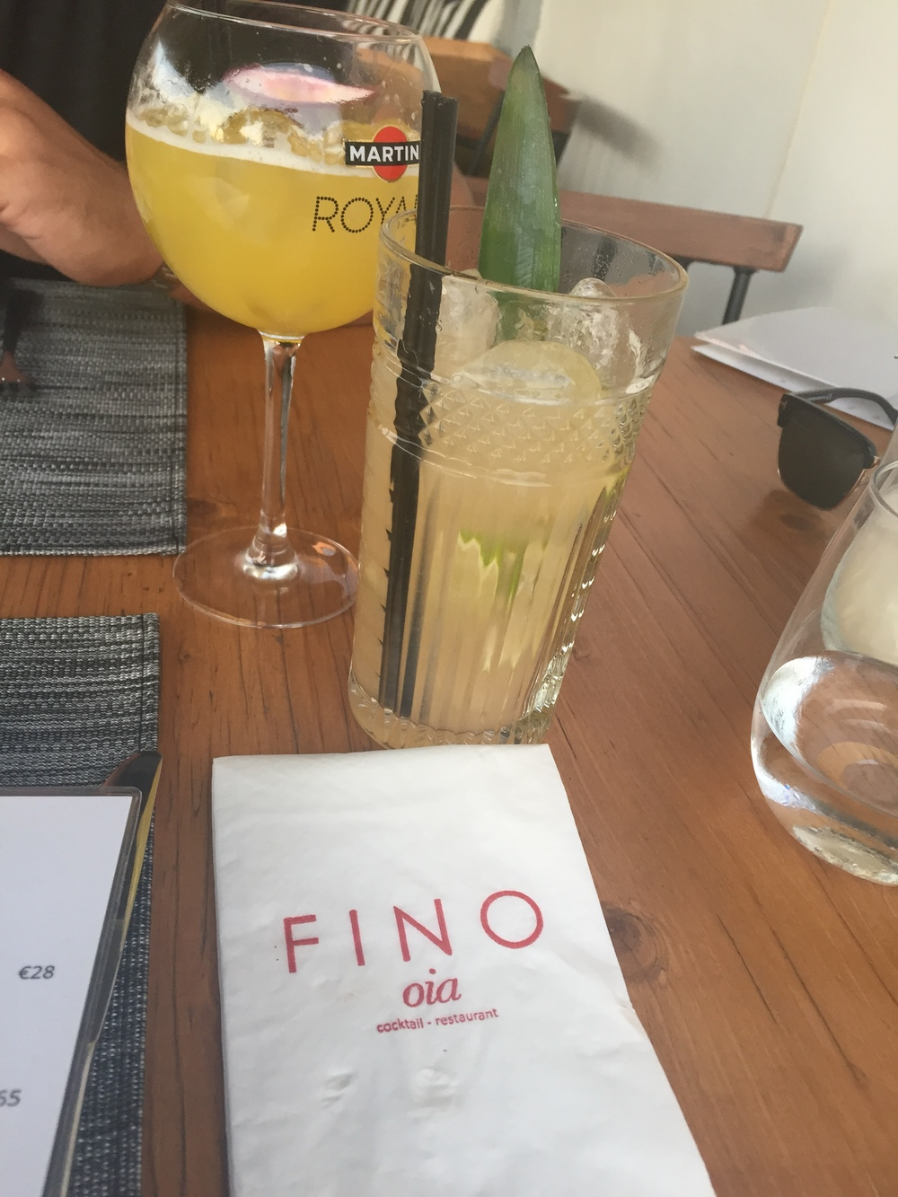 With most restaurants relying on the sunset to float their business (over differentiating their menus), we found this absolute gem hidden behind the church. Fino has an Aussie-esque quality in its fresh, modern, innovative, tasty take on their standard variety of food. And the cocktails are not the standard either. Order the Fino (Pineapple) or what we called 'the Ginger one please'. They'll know, it comes highly recommended.