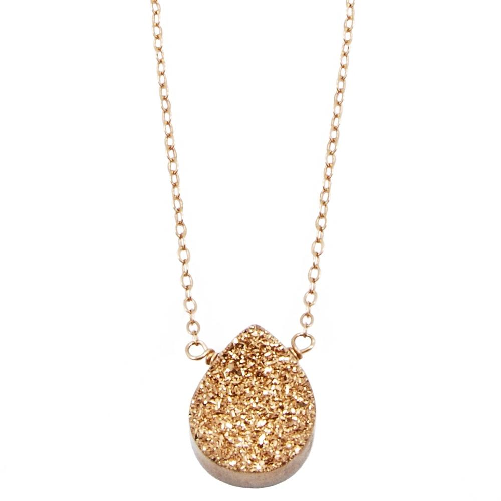 Rosegold Druzy Necklace Alexandra Beth Designs