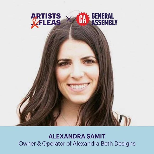 Join @alexandrasamit along with @generalassembly and @artistsandfleas! Swipe for details 💕