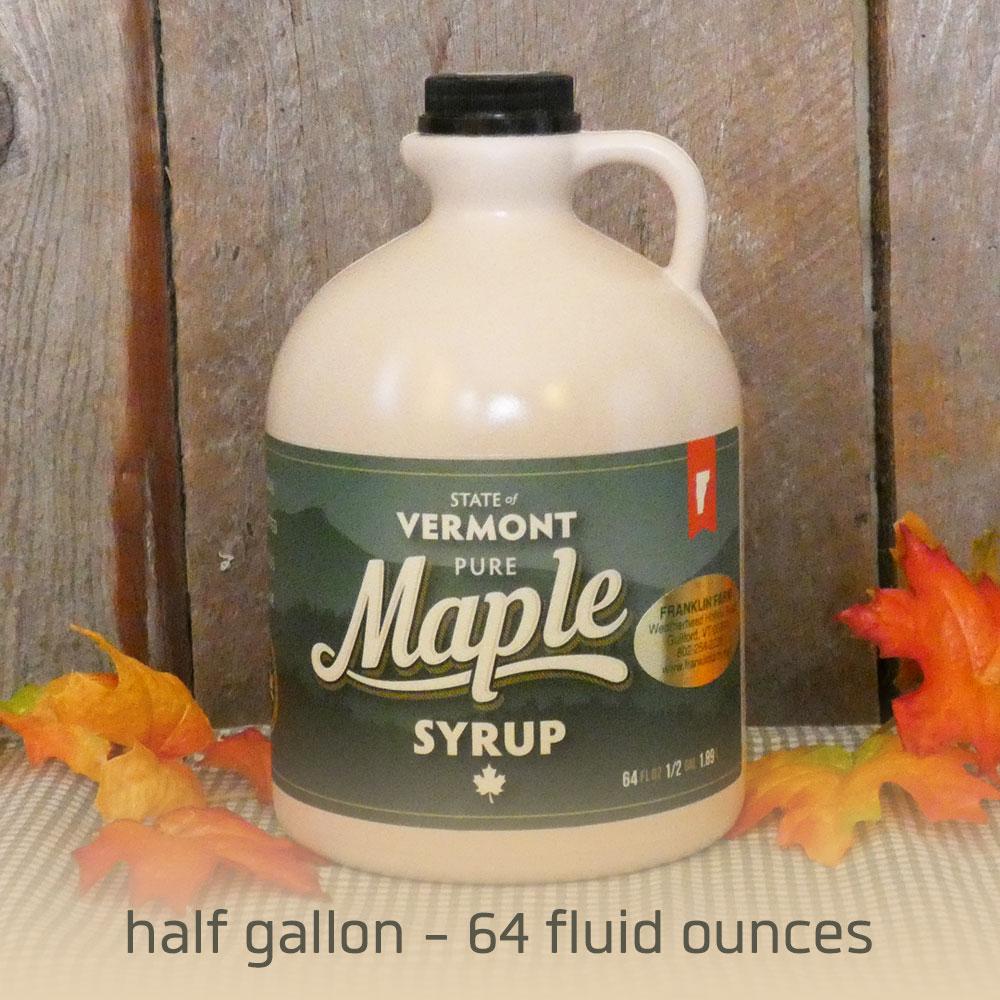 Buy half gallon size.