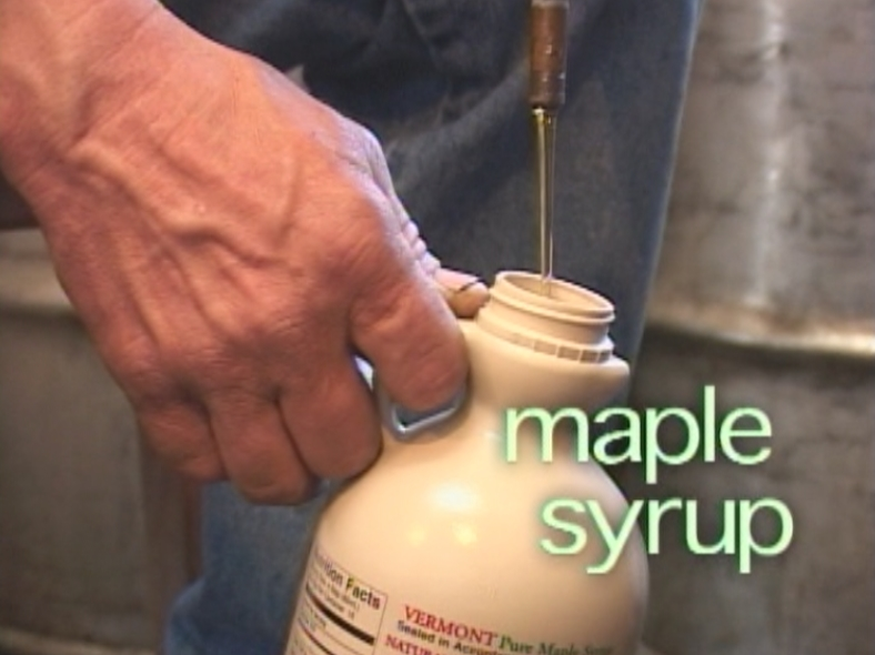 At last maple syrup is made!
