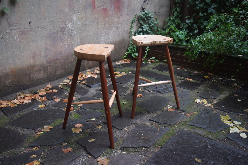 "26 1/2"" Three Legged Stool"