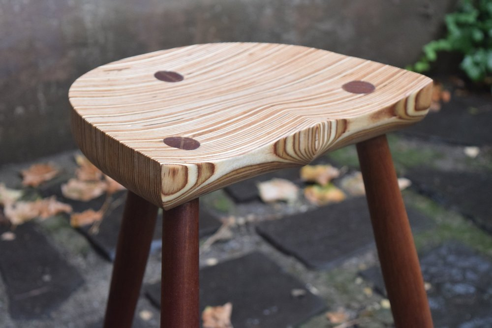 Three Legged Tall Stool