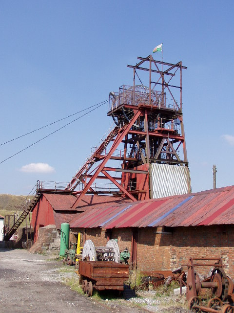 The Big Pit winding tower