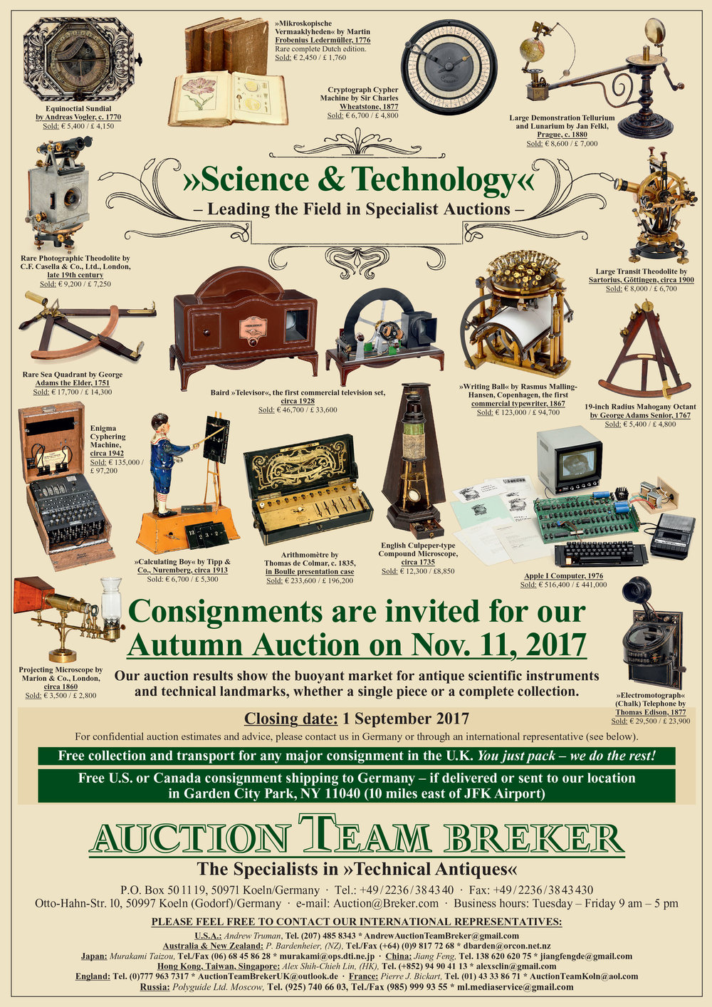 Visit Auction Team Breker