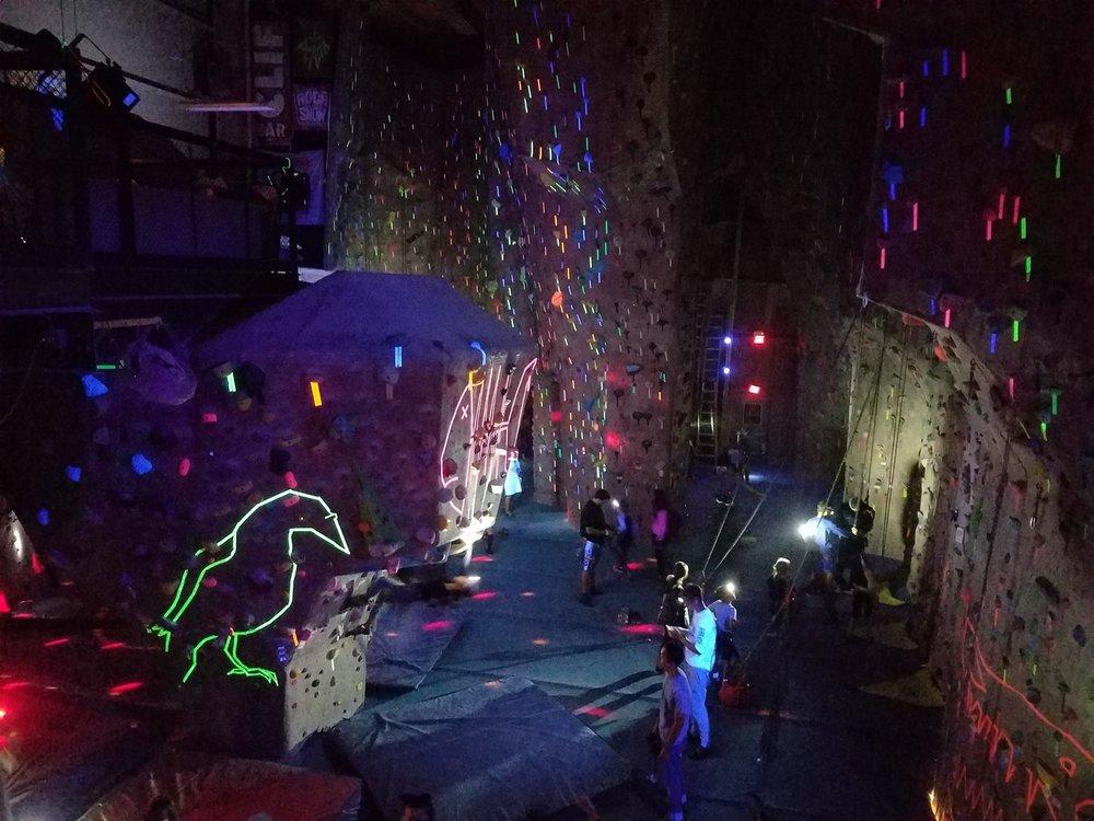 Valhalla's annual Halloween Blacklight Party was lit ... blacklit.