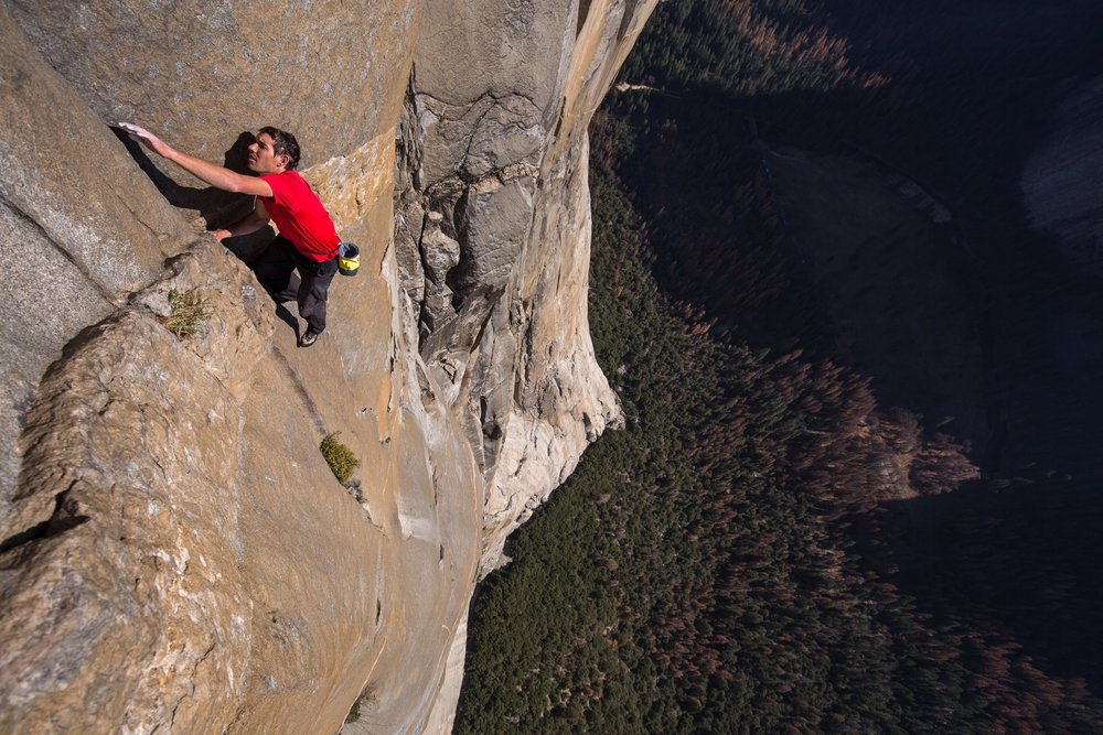 Alex Honnold on  Freerider  // Photo via  National Geographic