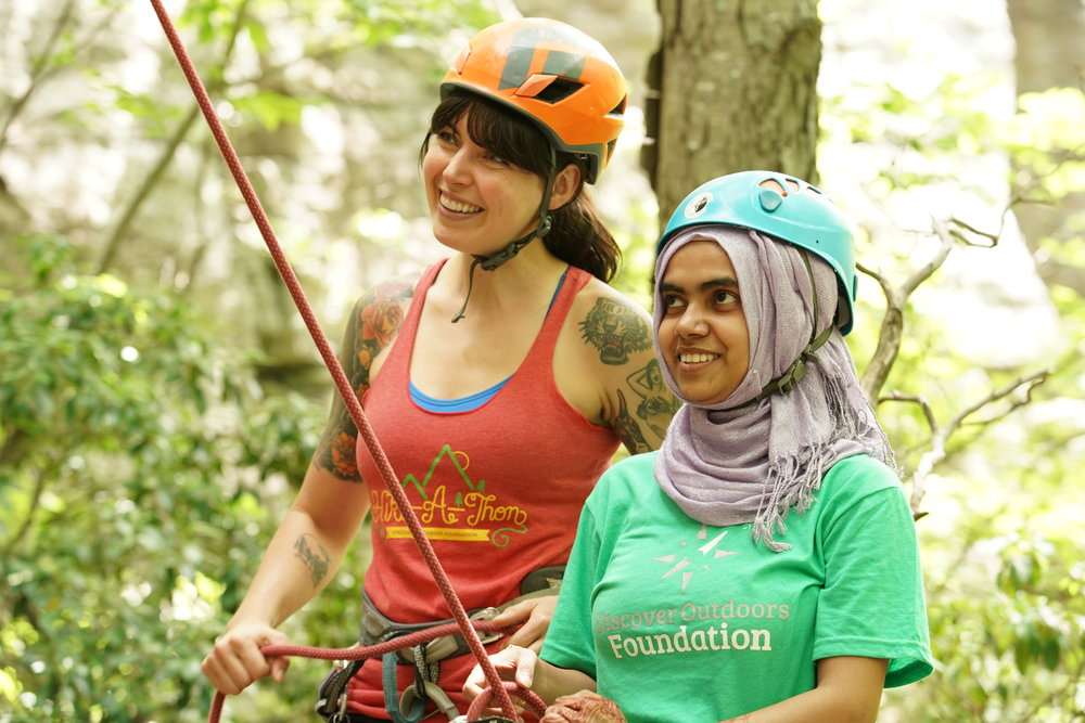 Youth Outreach - Our mission is not just to introduce kids to climbing, but to welcome them into our space + our community for the long-term. Once kids enter our programs at school age, we aim to keep them around—as youth team climbers, summer campers, and in many cases, as Cliffs staff members—and see them through to college and beyond. Read more about ClimbUp. Read more about Young Women Who Crush.