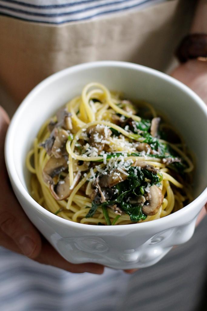 SHAREAT-Champignon-Spinat-Spaghetti
