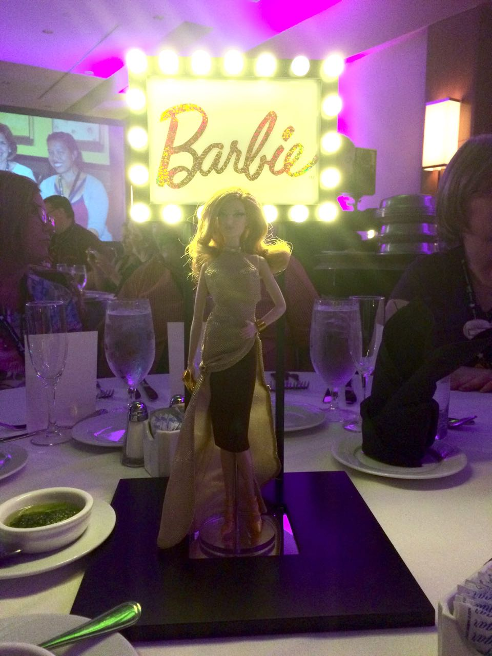 Centerpiece doll, I think the Louboutin sculpt used for one of the Red Carpet Barbie Look dolls