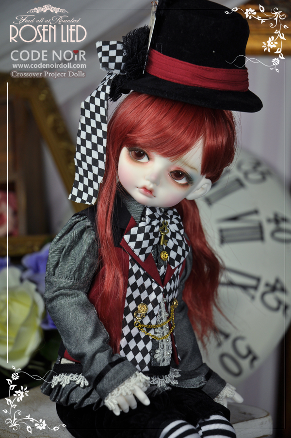 Limited edition crossover CODENOiR RosenLied Mignon BJD