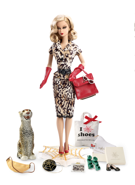Designed by Carlyle Nuera, Charlotte Olympia Barbie