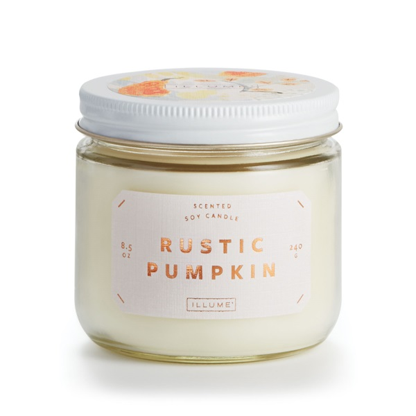 Rustic Pumpkin - Notes of pumpkin, nutmeg, and sandalwoods helps create a warm, cozy, and inviting home.