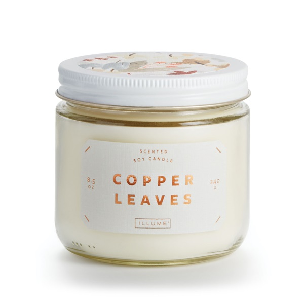 Copper Leaves - The quintessential fragrance of fall with notes of roasted chestnuts, cinnamon and coconut.