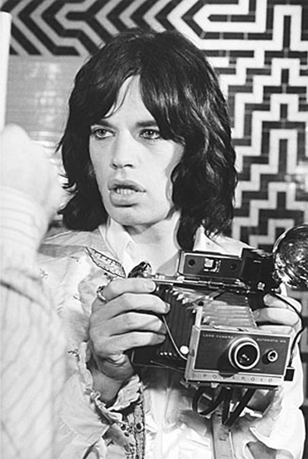 Mick Jagger On Set of Performance