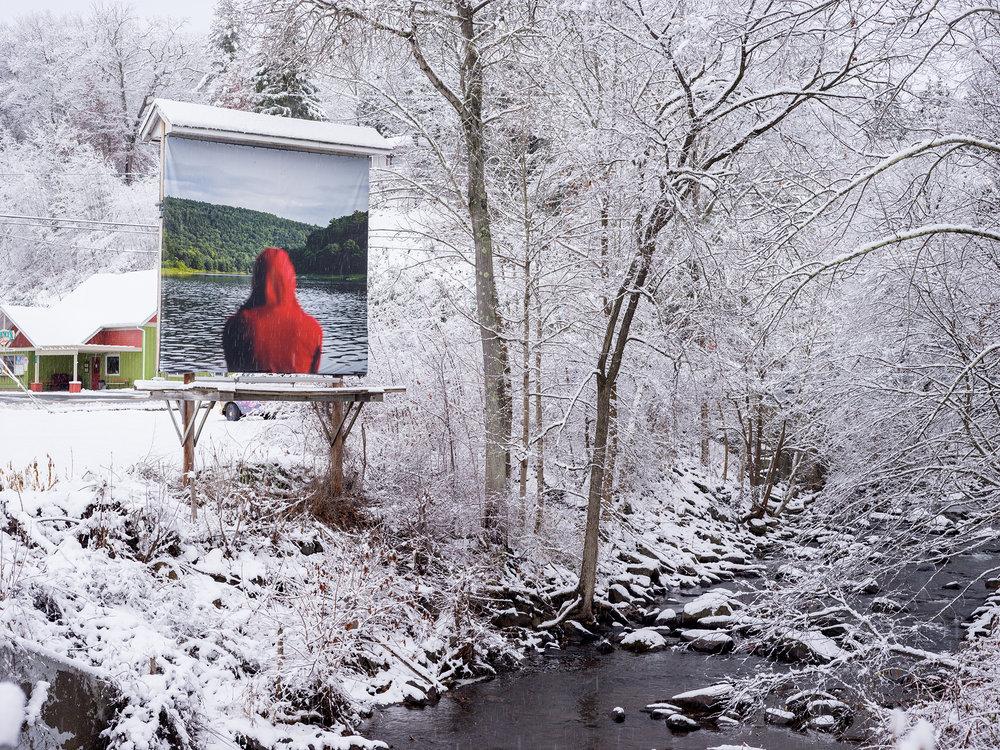 Noah Kalina,Billboard Takeover,Barryvillle, NY, 2015.
