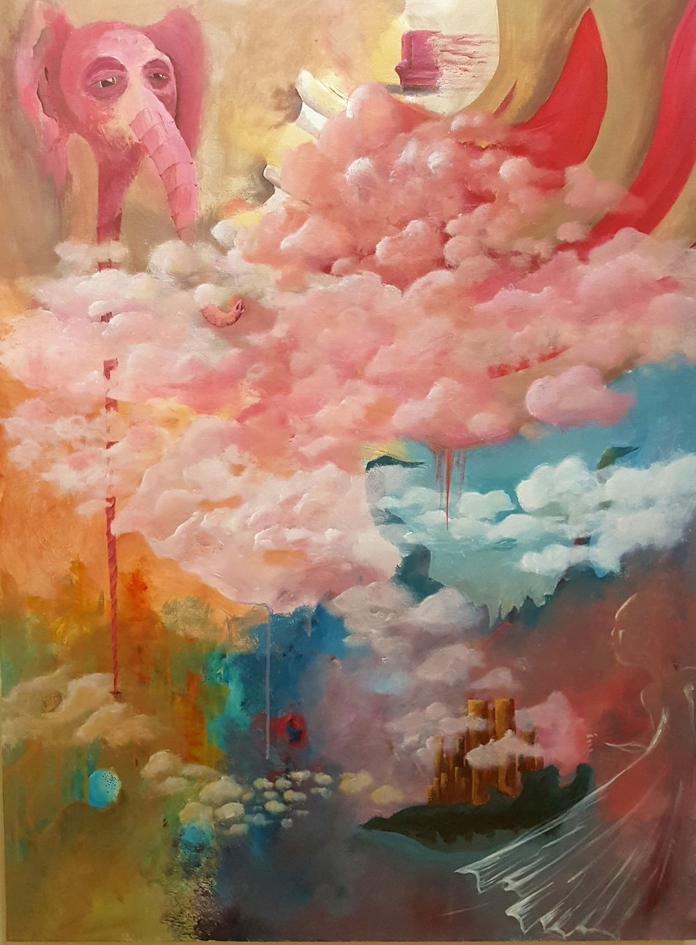 The Pink Cloud    - Acrylic on canvas
