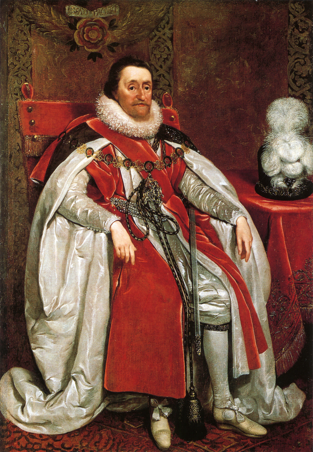 James I of England by Daniel Mytens - 1621