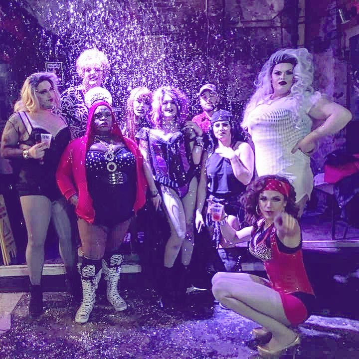 Athens drag troupe - The Kourtesans - performing at Sister Louisa's.